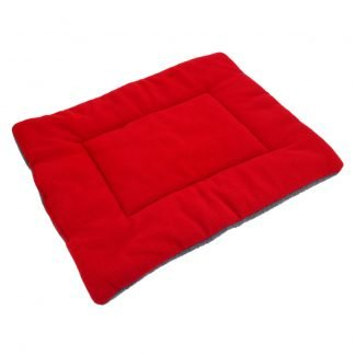 Washable Soft Comfortable Silk Wadding Bed for Pet Red Wine L