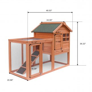 Wooden Pet House, Natural