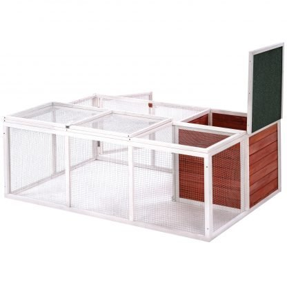 61.8 Inches Small Animal Cage With Enclosed Run