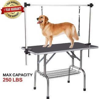 Pet Grooming Table with Double Loop