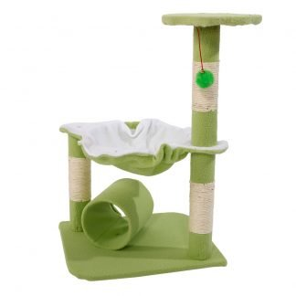 """28"""" Cute Sisal Stable Cat Tower,  Green"""