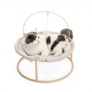Soft Plush Cat Detachable Bed with Dangling Ball