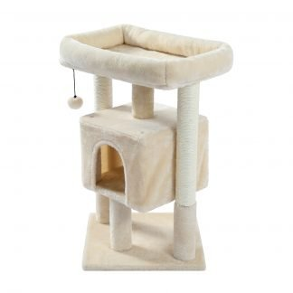 28.4 Inches Small Polyester Plush Cat Tower