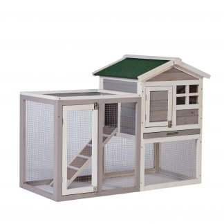 """48"""" Large Chicken Coop, Gray"""
