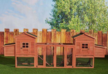 Duplex Chicken Coop With Outdoor Run